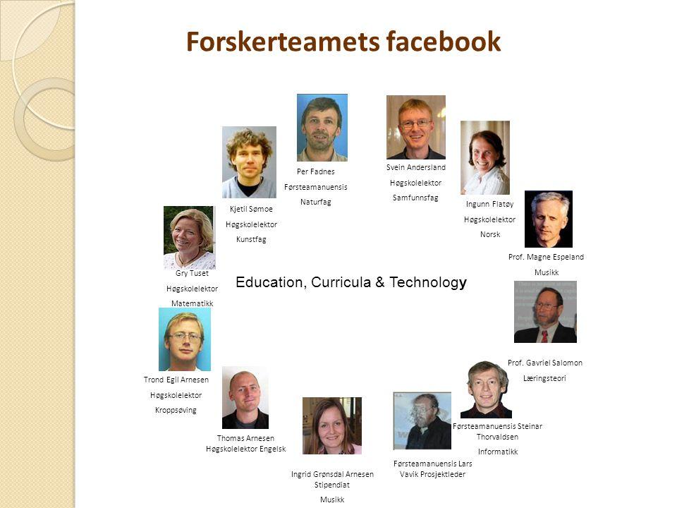 Forskerteamets facebook