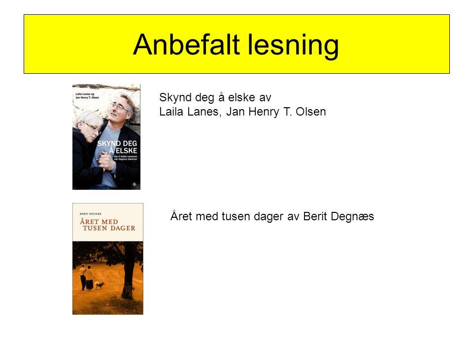 Anbefalt lesning Skynd deg å elske av Laila Lanes, Jan Henry T. Olsen