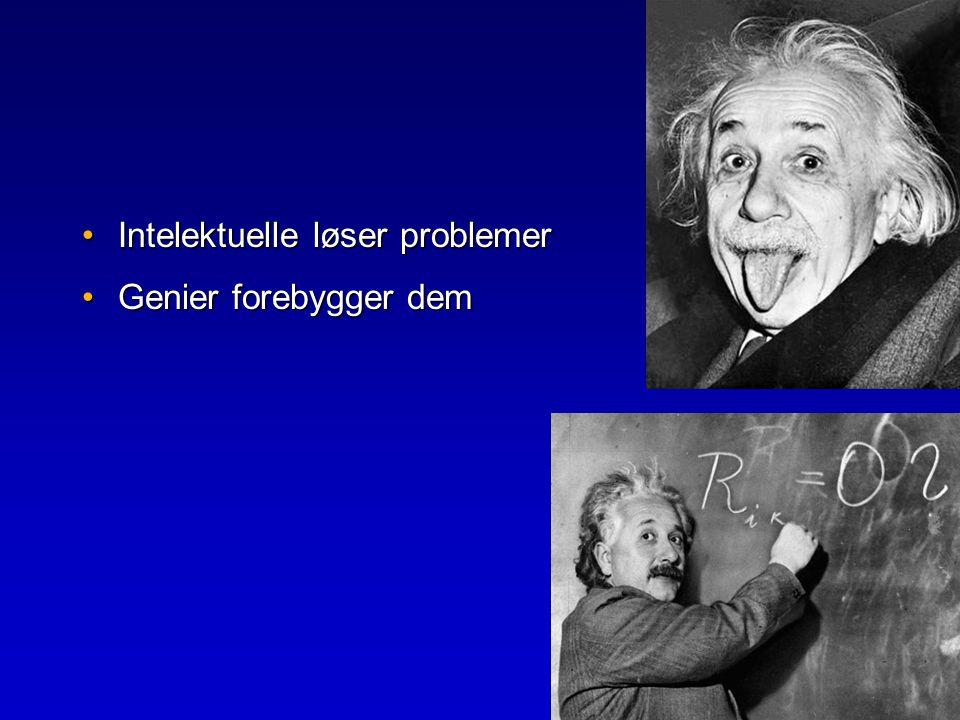 Intelektuelle løser problemer