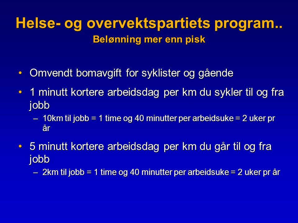 Helse- og overvektspartiets program.. Belønning mer enn pisk