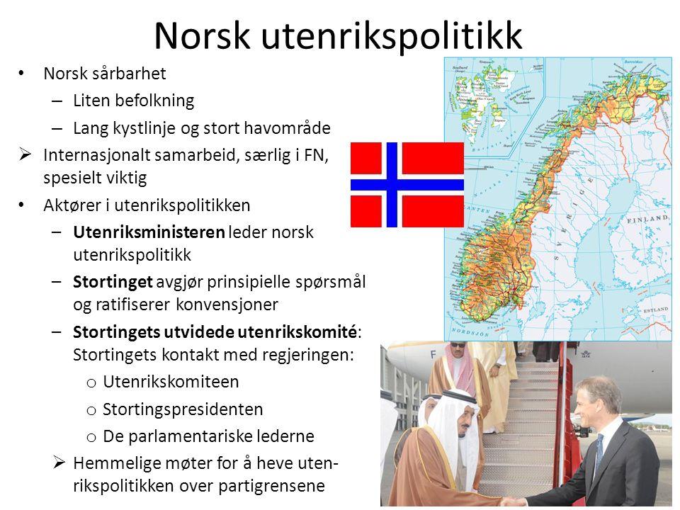Norsk utenrikspolitikk