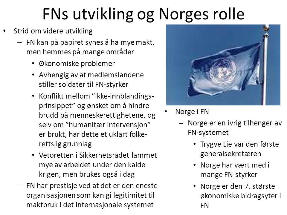 FNs utvikling og Norges rolle