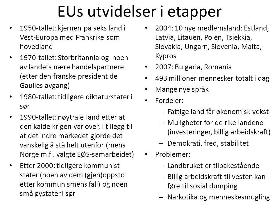 EUs utvidelser i etapper