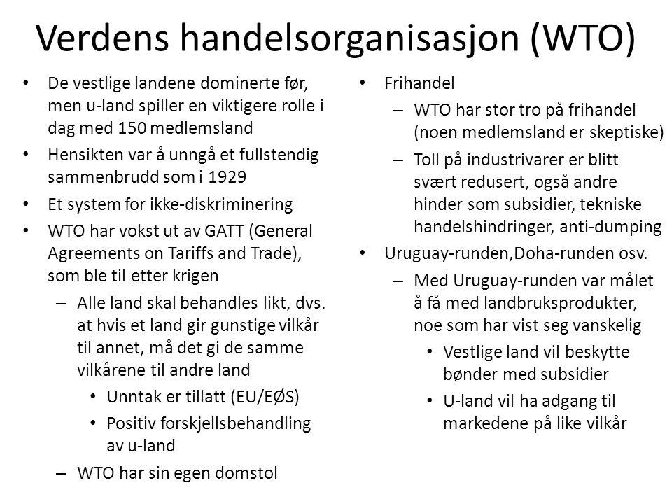 Verdens handelsorganisasjon (WTO)