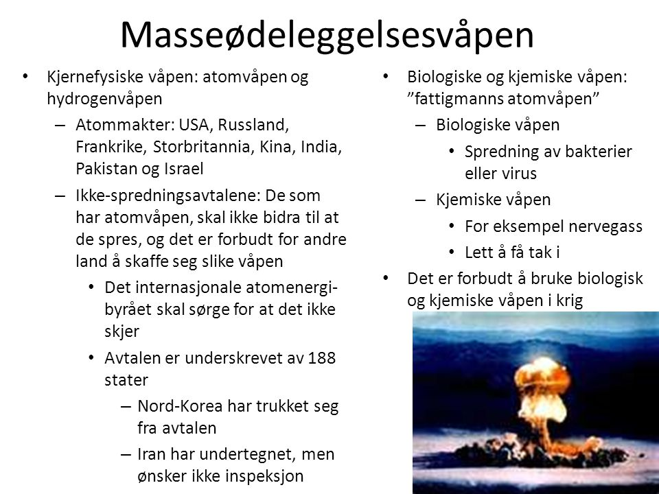 Masseødeleggelsesvåpen