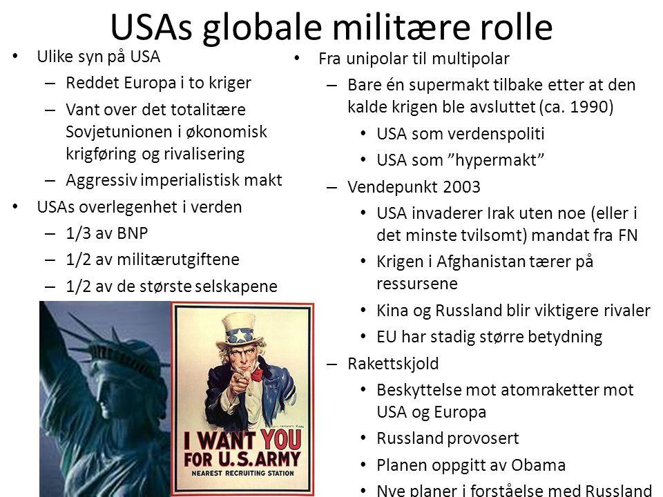 USAs globale militære rolle