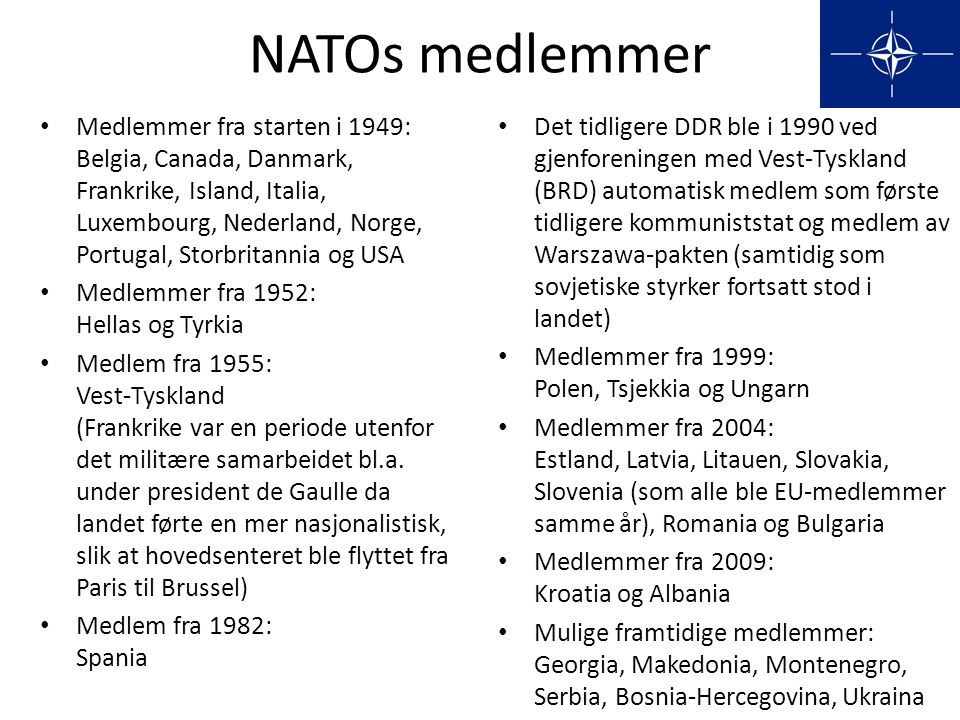 NATOs medlemmer