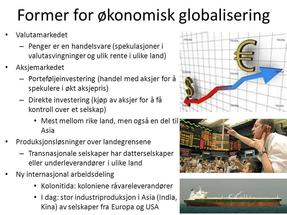 Former for økonomisk globalisering
