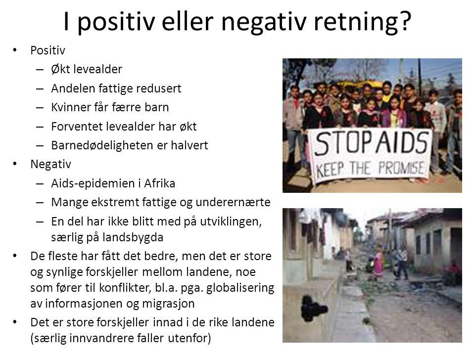 I positiv eller negativ retning