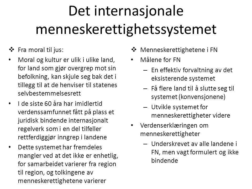 Det internasjonale menneskerettighetssystemet