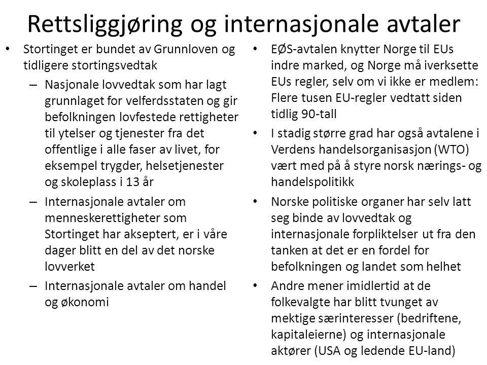 Rettsliggjøring og internasjonale avtaler