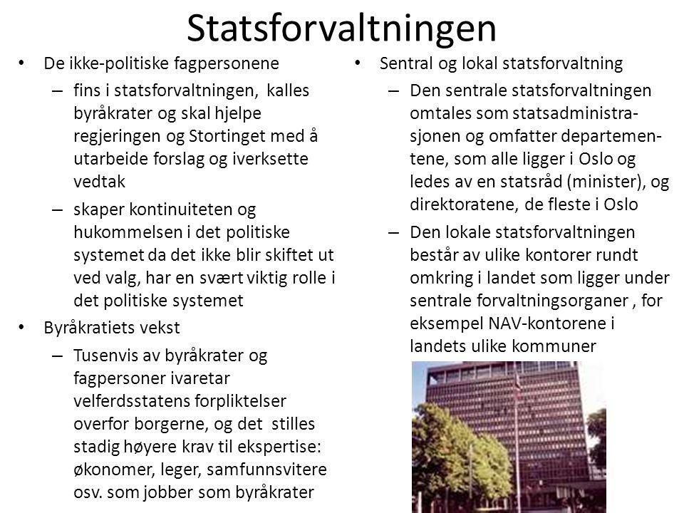 Statsforvaltningen De ikke-politiske fagpersonene