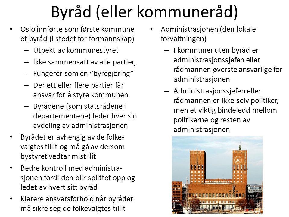 Byråd (eller kommuneråd)