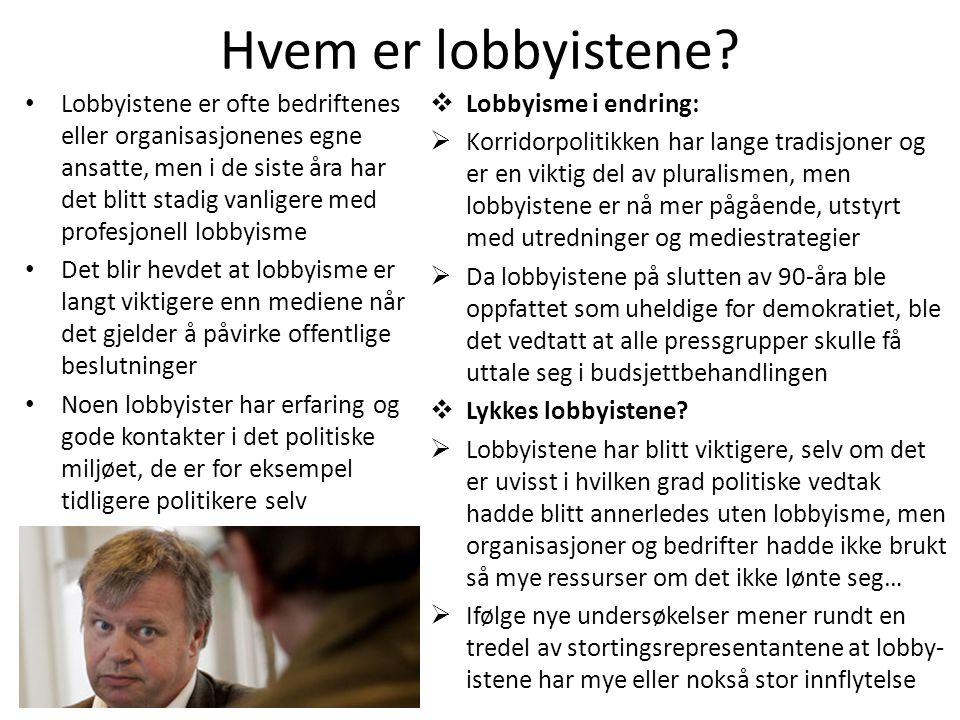 Hvem er lobbyistene