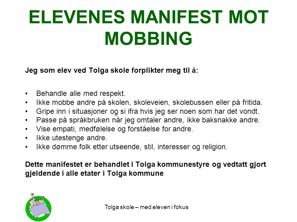 ELEVENES MANIFEST MOT MOBBING