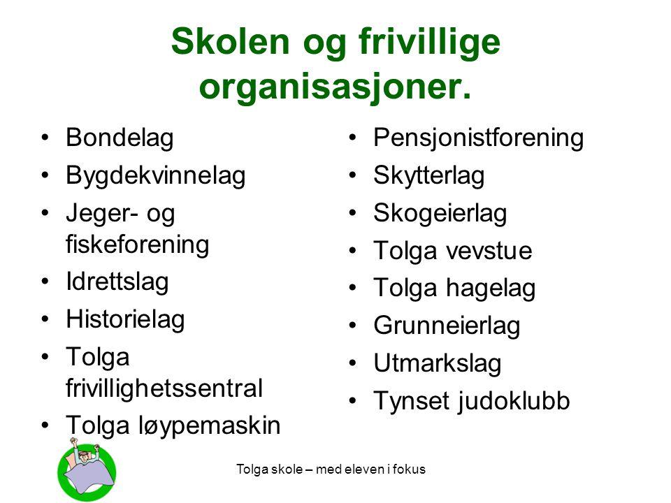 Skolen og frivillige organisasjoner.