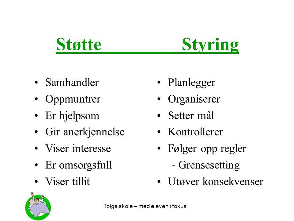 Støtte________ Styring