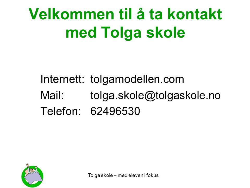 Velkommen til å ta kontakt med Tolga skole