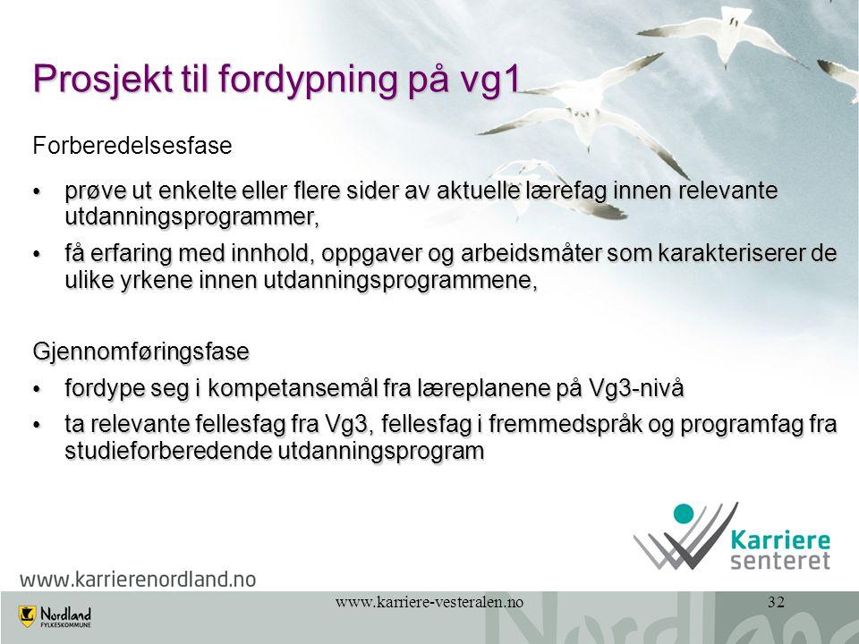 Prosjekt til fordypning på vg1