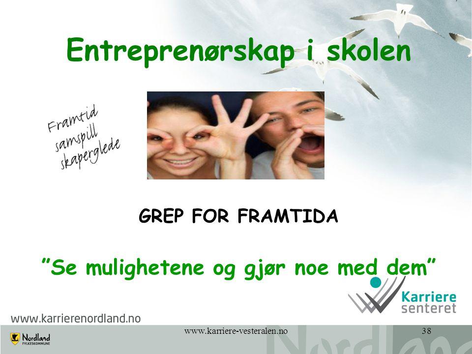 Entreprenørskap i skolen Se mulighetene og gjør noe med dem
