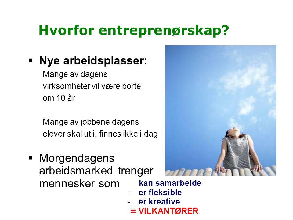 Hvorfor entreprenørskap