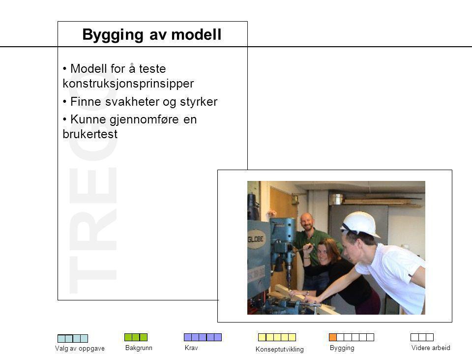 Bygging av modell Modell for å teste konstruksjonsprinsipper