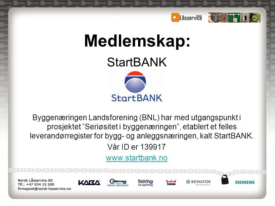 Medlemskap: StartBANK