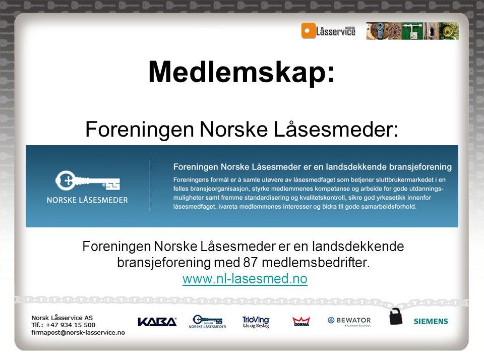 Foreningen Norske Låsesmeder: