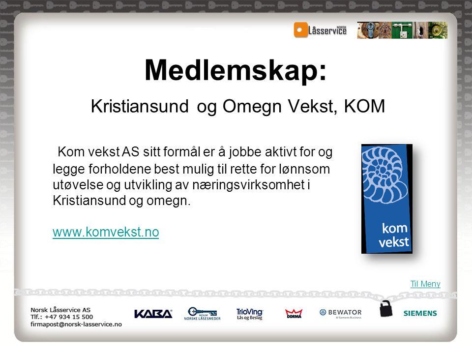 Kristiansund og Omegn Vekst, KOM
