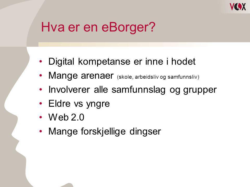 Hva er en eBorger Digital kompetanse er inne i hodet