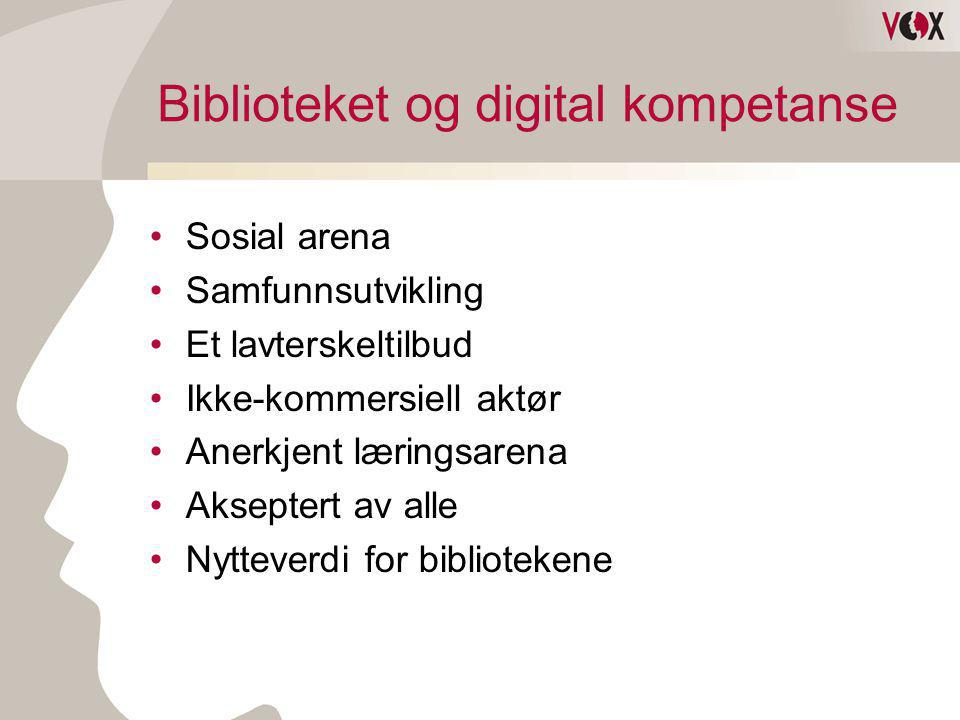 Biblioteket og digital kompetanse