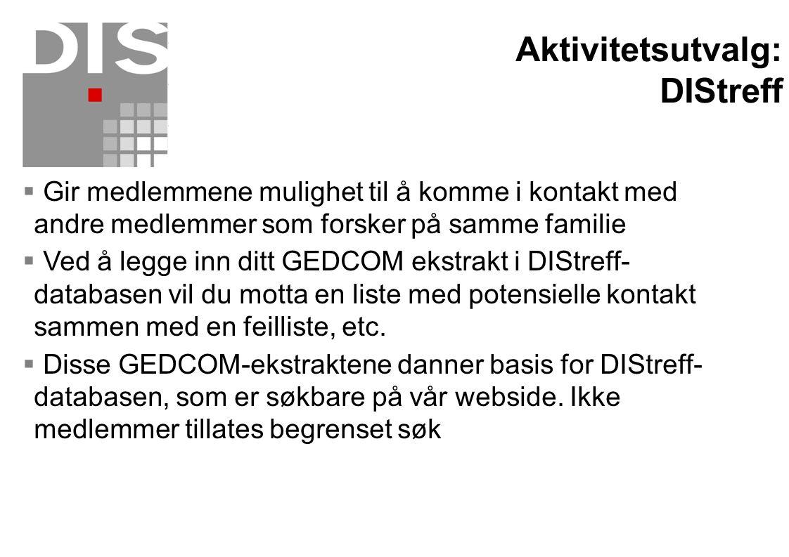 Aktivitetsutvalg: DIStreff