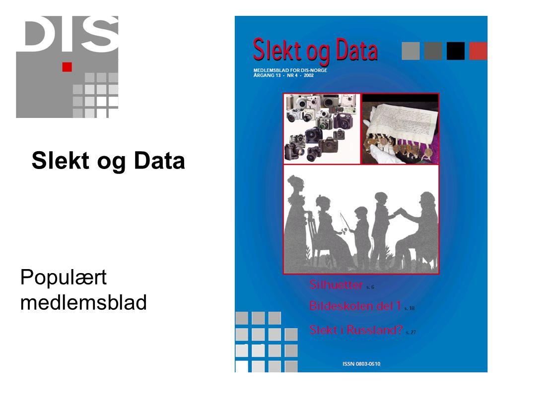 Slekt og Data Populært medlemsblad