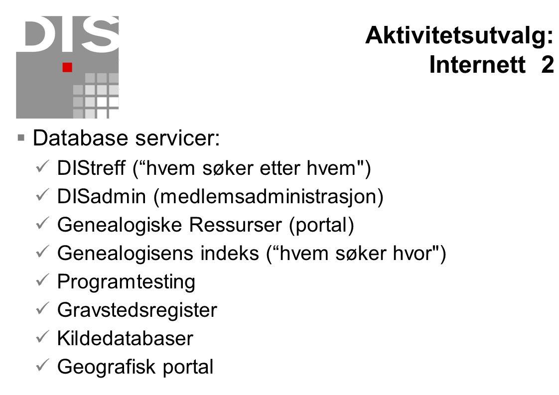 Aktivitetsutvalg: Internett 2