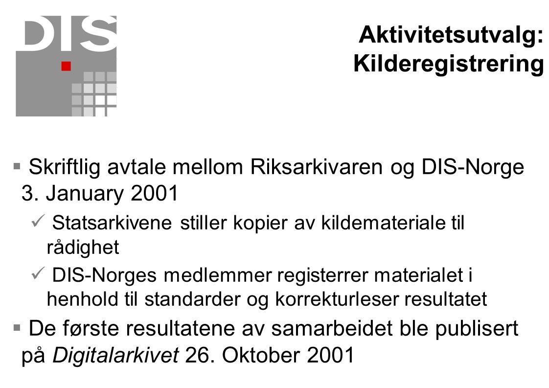 Aktivitetsutvalg: Kilderegistrering
