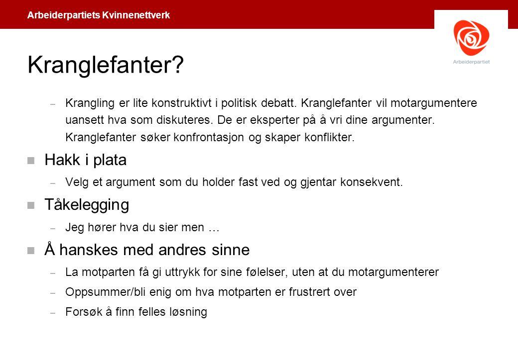 Kranglefanter Hakk i plata Tåkelegging Å hanskes med andres sinne