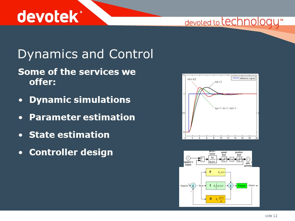 Dynamics and Control Some of the services we offer: