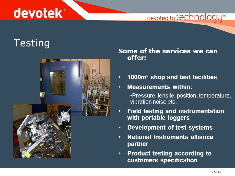 Testing Some of the services we can offer: