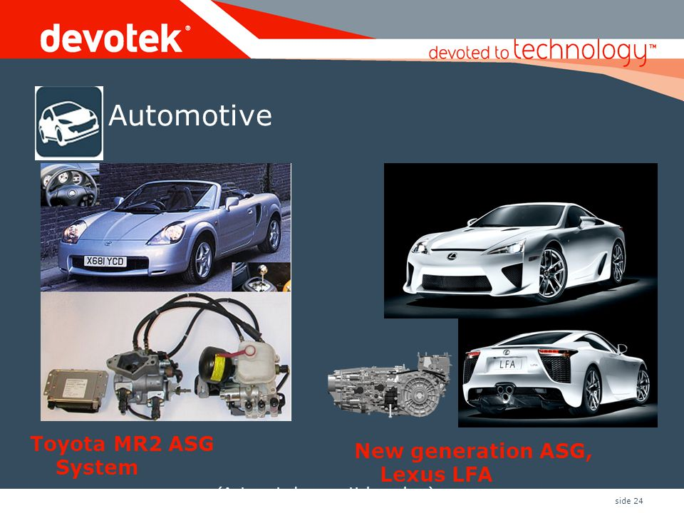 Automotive Toyota MR2 ASG System New generation ASG, Lexus LFA