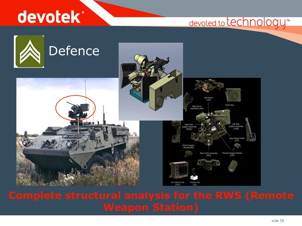 Complete structural analysis for the RWS (Remote Weapon Station)