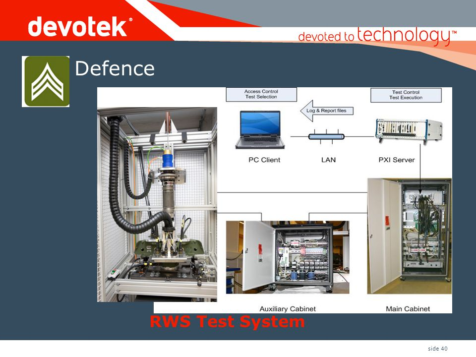 Defence RWS Test System RWS testrigger: