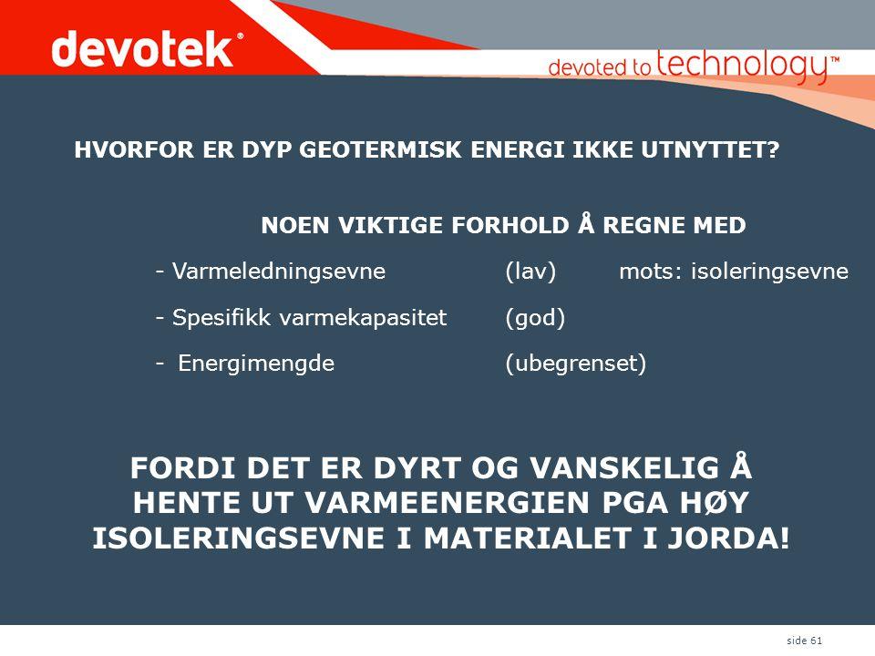 HVORFOR ER DYP GEOTERMISK ENERGI IKKE UTNYTTET