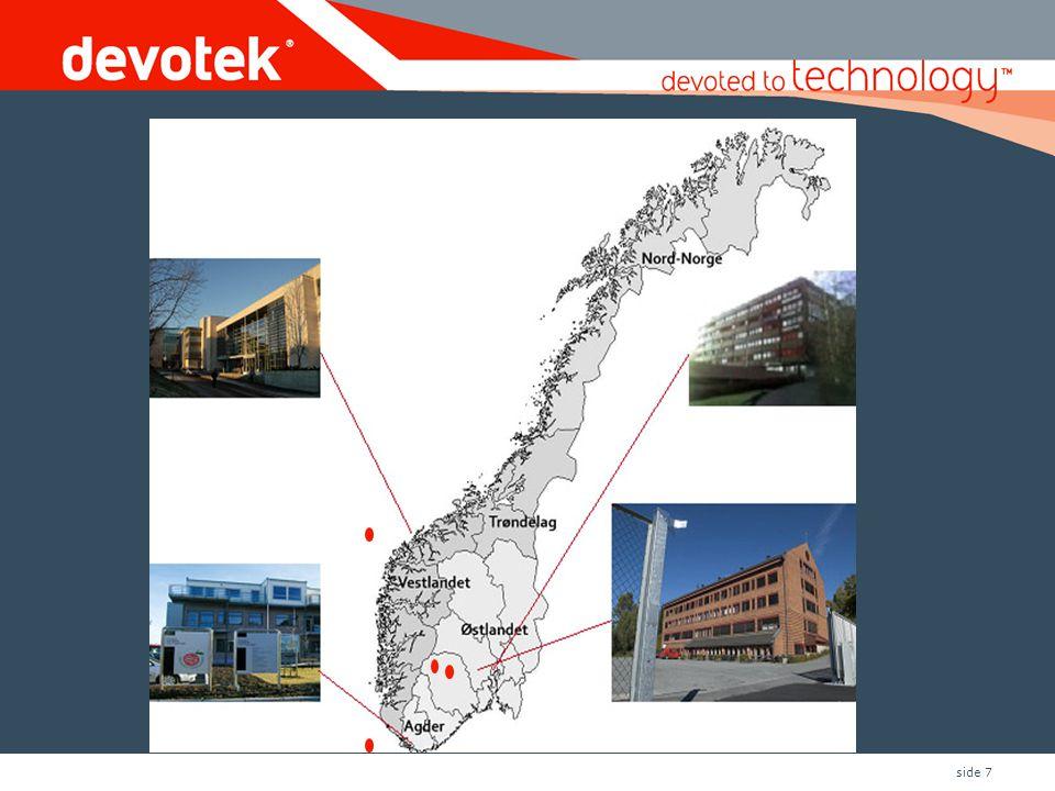 Norgeskart med bilde av lokasjoner og piler