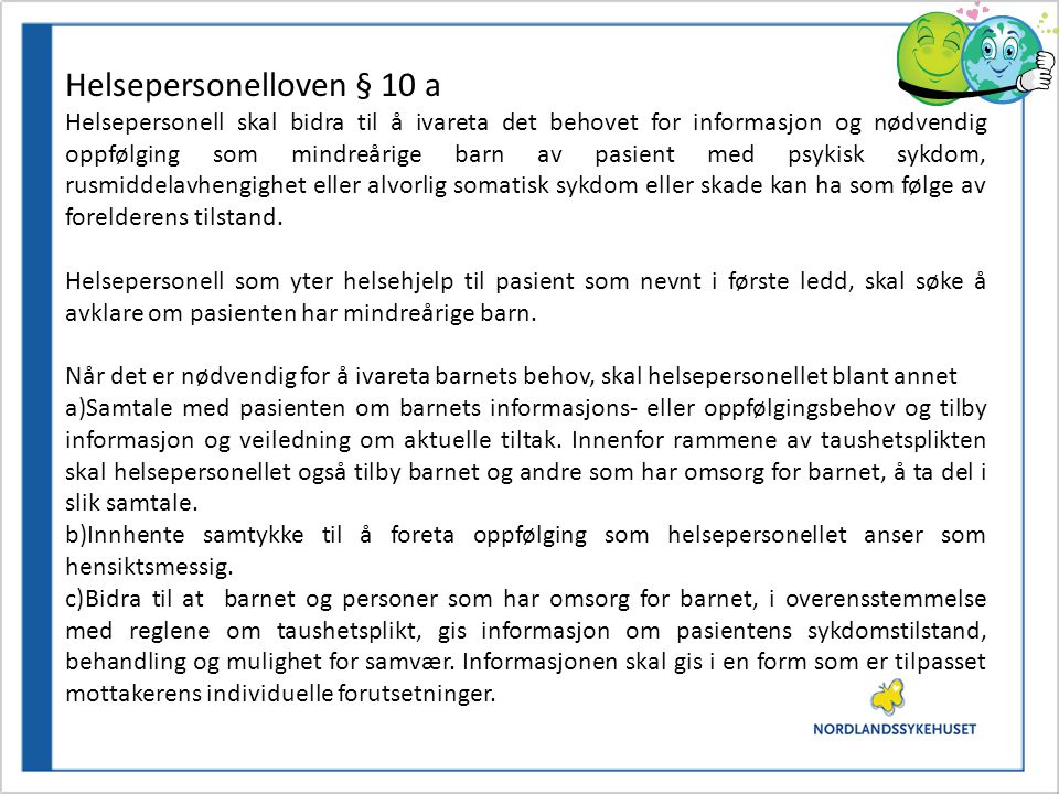 Helsepersonelloven § 10 a