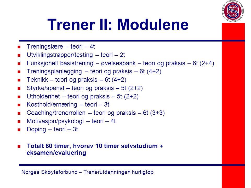 Trener II: Modulene Treningslære – teori – 4t