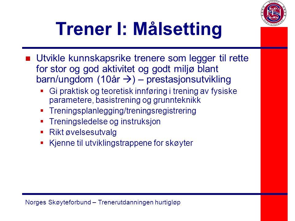 Trener I: Målsetting