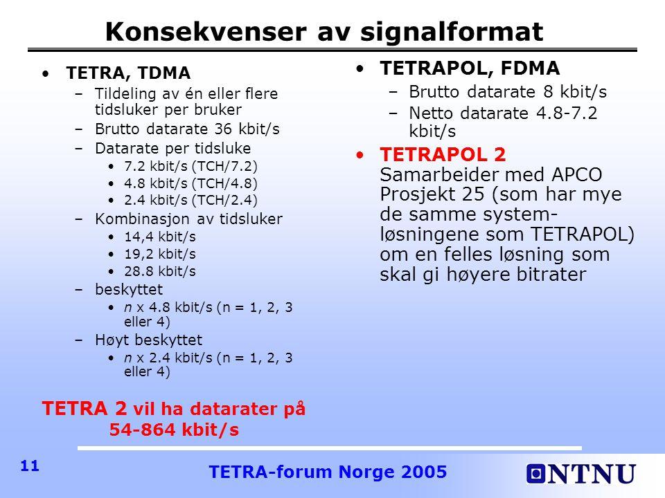 Konsekvenser av signalformat