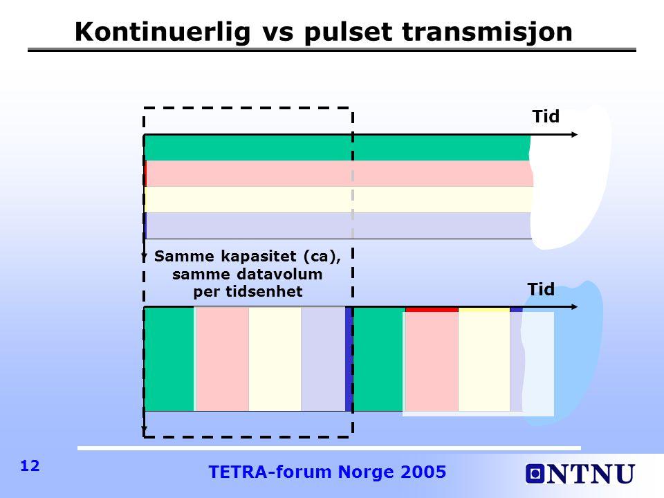 Kontinuerlig vs pulset transmisjon