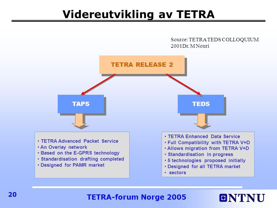 Videreutvikling av TETRA