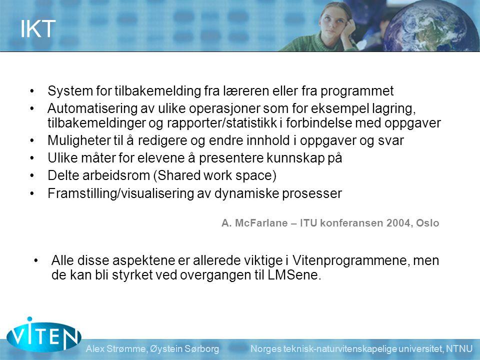 IKT System for tilbakemelding fra læreren eller fra programmet